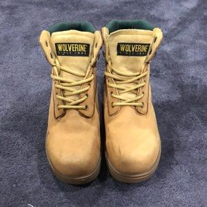 Wolverine Leather Hard-Toe Boots